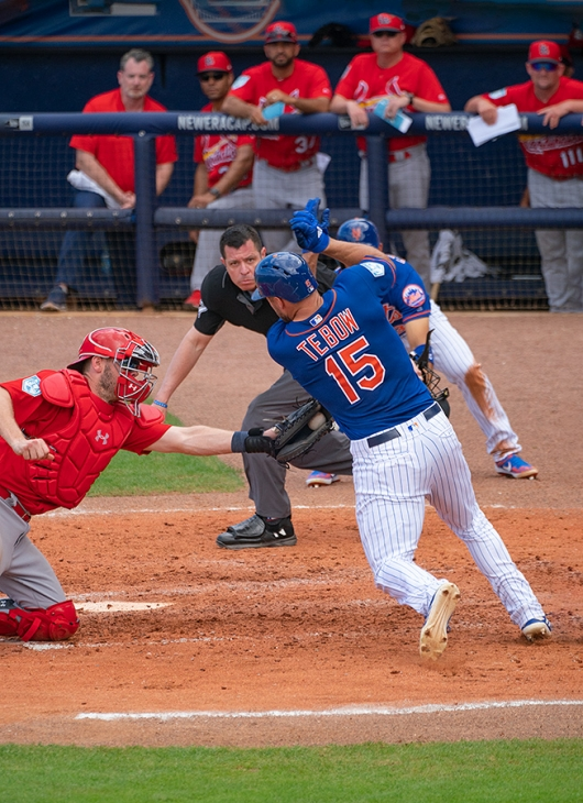 Tim-Tebow-out-at-the-plate-_A9A6192-First-Data-Field,-Port-St.-Lucie,-FL-