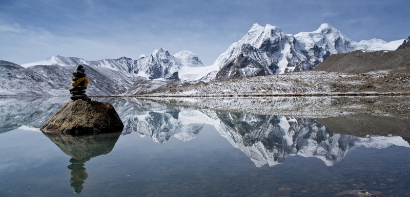 At 17,100 feet above sea level, Lake Gurudongmar is one of the highest elevation lakes in the Eastern Himalaya.